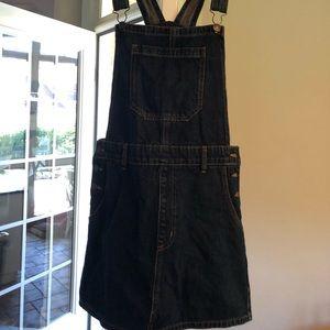 Forever 21 Denim Skirt Overalls Size Medium EUC